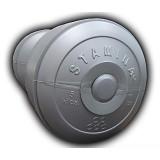 STAMINA Plastic Dumbbell 5kg [ST-800-5S] - Silver - Barbell / Dumbbell